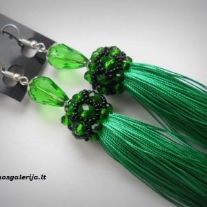 auskarai žali 02