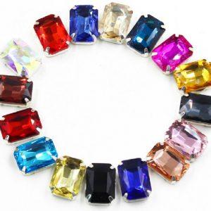 stačiakampio formos kristalai
